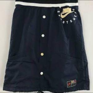 nike sportswear 253 plus button down skirt